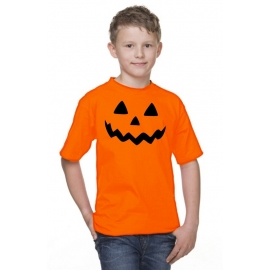Helloween T-SHIRT Kürbis Kinder + Erwachsene orange
