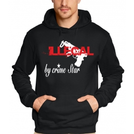 ILLEGAL by crime star HOODIE schwarz S M L XL XXL