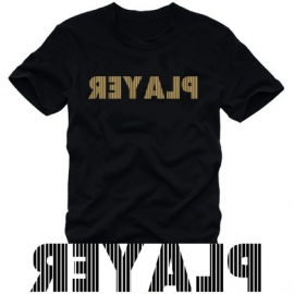 PLAYER t-shirt schwarz / gold S - XXXL