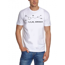 Adrenalin  T-Shirt weiss C9 H13 NO2