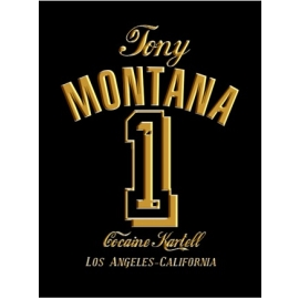 TONY MONTANA t-shirt Nr.1 black / gold